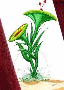 Malerei, Figural, Pflanzen, Paar