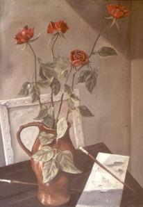 Blumen, Landschaft, Rose, Krug