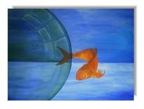 Landschaft, Fisch, Blau, Malerei