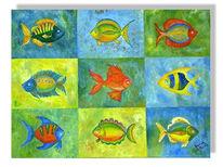 Abstrakt, Malerei, Fisch