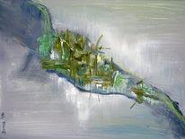 Abstrakt, Moos, Stein, Malerei