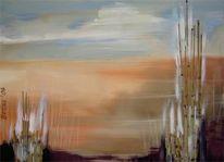 Malerei, Abstrakt, Schilf