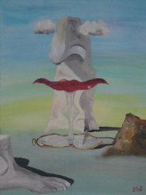 Felsen, Spiegel, Abstrakt, Surreal
