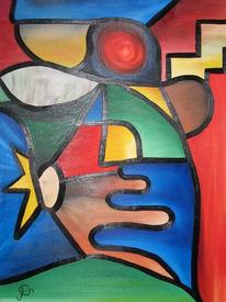 Malerei, Abstrakt, Hand