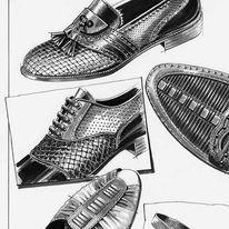 Zeichnung, Schuhe, Zeichnungen