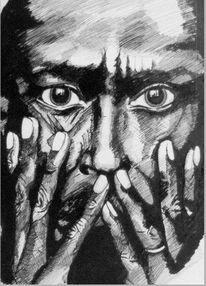 Augen, Hände, Mosaik, Zeichnungen