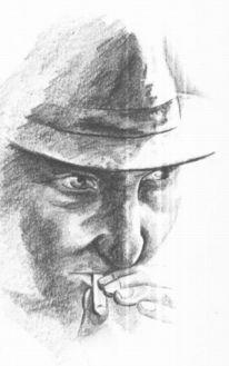 Blick, Zigarette, Zeichnung, Skizze