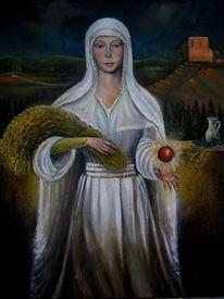 Madonna, Gravina, Malerei, Weiß