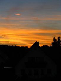 Himmel, Sonnenuntergang, Orange, Fotografie
