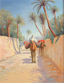 Orientalismus, Studie, Orient, Malerei