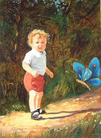 Malerei, Figural, Kinderwelt, Menschen