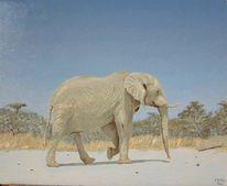 Figural, Malerei, Elefant
