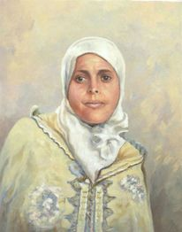 Orientalin, Portrait, Orientalismus, Frau