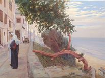 Orientalisch, Orient, Gemälde, Frau