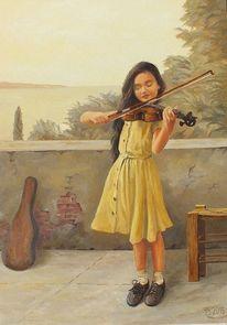 Musik, Genre, Mädchen, Geige