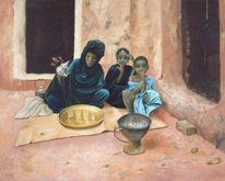 Contemporain, Orientalisch, Gemälde, Modern