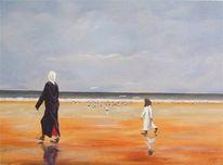 Strand, Frau, Gegenwartskunst, Orientalismus
