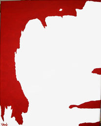 Portrait, Weiß, Malerei, Rot