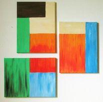 Gelb, Blau, Kubismus, Abstrakt