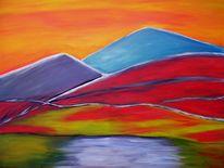 Wasser, Brennen, Landschaft, Rot