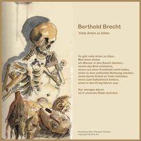 Tod, Kritik, Brechen, Zeichnungen