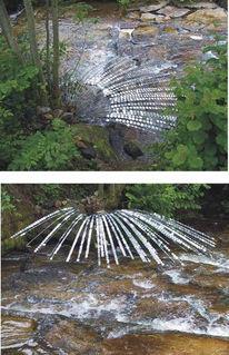 Wasserfall, Metall, Objekt, Abstrakt