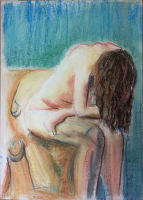 Gedanken, Pastellmalerei, Zeichnungen, Gedenken