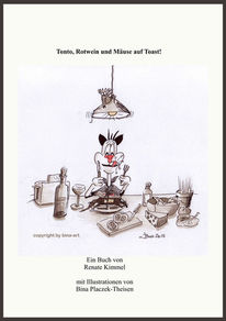 Buch, Katze, Comic, Cartoon