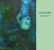 Unterwasser, Lost child, Verlorenes kind, Malerei