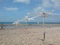 Strand, Meer, Windflüchter, Schirm