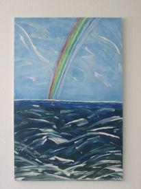 Malerei, Regenbogen, Sturm