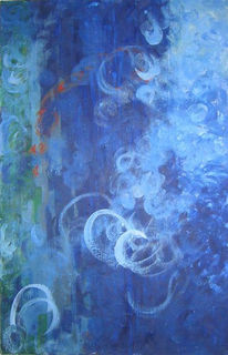 Bewegung, Blau, Malerei,