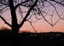 Landschaft, Herbst, Sonnenuntergang, Himmel