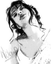 Digital, Hübsch, Traum, Portrait