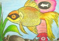 Zeichnung, Zeichnungen, Fisch