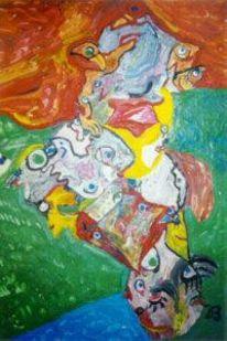 Vermitteln, Farben, Abstrakt, Gefühl