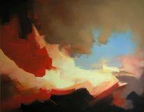 Malerei, Abstrakt, Bucht, Blick
