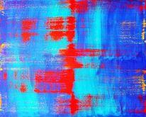 Blau, Acrylmalerei, Rot, Malerei