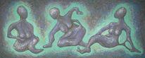 Fantasie, Abstrakte malerei, Mischtechnik, Acrylmalerei