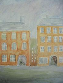 Landschaft, Malerei, Altstadt