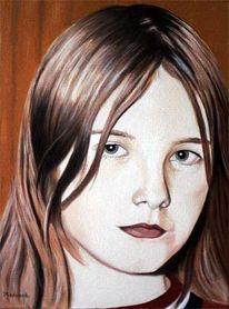 Figural, Mädchen, Portrait, Malerei