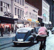 Auto, Realismus, Läden, Straße