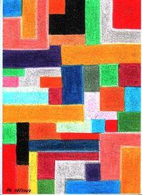 Abstrakt, Rechteck, Längs, Malerei