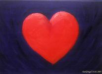 Herz, Blau, Malerei, Weiß