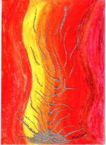 Farben, Gelb, Malerei, Rot