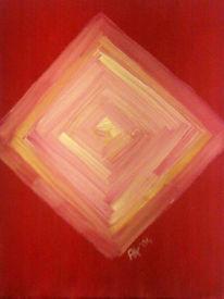 Malerei, Rot, Weiß, Gelb