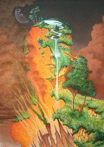 Kampf, Feuer, Malerei, Natur