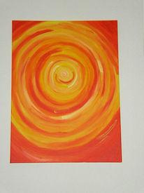 Gelb, Acrylmalerei, Spirale, Malerei