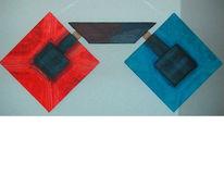 Malerei, Abstrakt, Waage