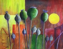 Experimentelle malerei, Garten, Malters, Frühling